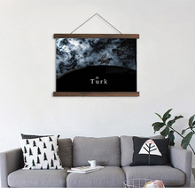 Artryst hanging canvas mordern decor painting black horse background abstract painting printed for living room wall art SCP (12)