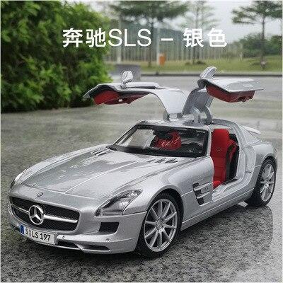 1:18 kolekcja odlew ze stopu duży modeli samochodów mkd3 ozdoba do domu rękodzieło pojazdów dzieci zabawki dla Benz SLS AMG Super Sport samochód w Odlewane i zabawkowe pojazdy od Zabawki i hobby na  Grupa 1