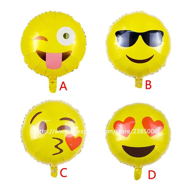25pcs Lot NEW 18 Expression Balloons Emoji Foil Ballon For