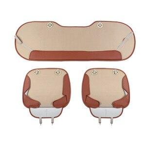 Image 5 - Tampas de assento de carro couro do plutônio protetor de assento de carro almofadas de bambu carvão coxim de carro lado em torno da capa de assento quatro estações