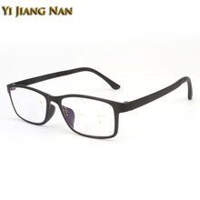 Yi Jiang Nan Brand Plastic Titanium Frames Verifocal Glasses Progressive Reflective Prescription Multifocal Lens