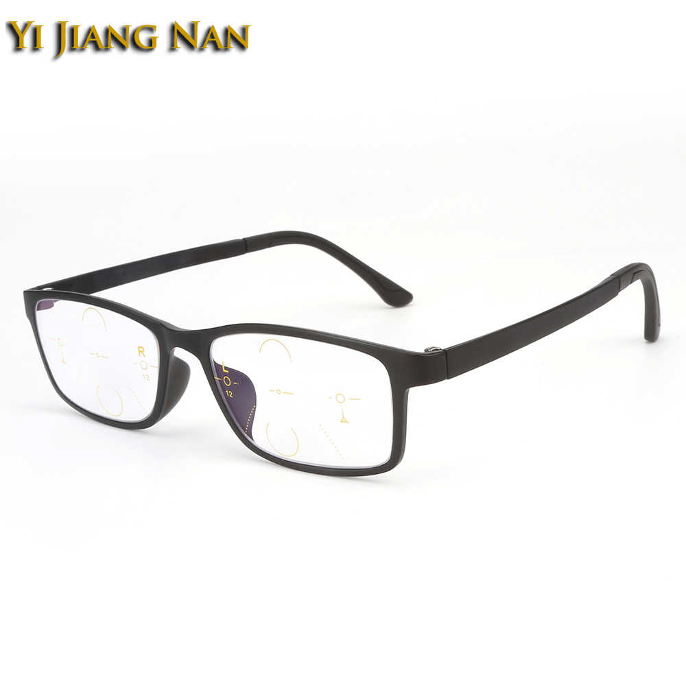 14c46cb59aec Yi Jiang Nan Brand Plastic Titanium Frames Verifocal Glasses Progressive  Glasses Reflective Prescription Glasses Multifocal Lens