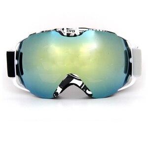 Новый дизайн, лыжные очки, очки для снежной погоды, защита от ультрафиолета, двойные противотуманные линзы, сноуборд, лыжные очки, зеленые ли...