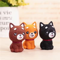 AutoEC 1 set Car ornaments Cute dog cartoon doll cute pet car creative doll ornaments car interior decorations #LQ1119