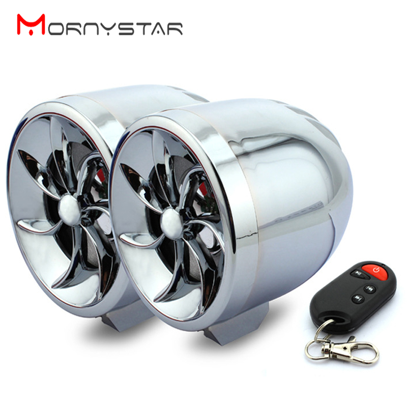 Motorcycle MP3 Player Music Audio MT483 Moto Speaker Anti-theft Protection Support FM USB SD AUX With Voice Prompts
