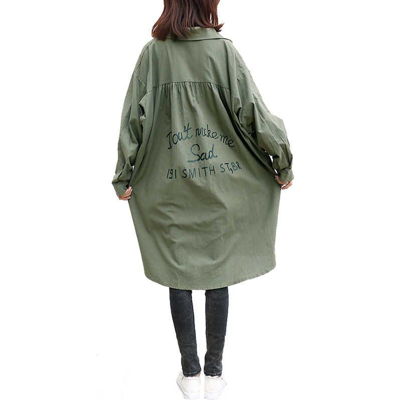 Oladivi футболка оверсайз плюс размер женские длинные топы тройники повседневные женские кимоно кардиган Дамская рубашка блузка Blusas Feminas Весна 2018