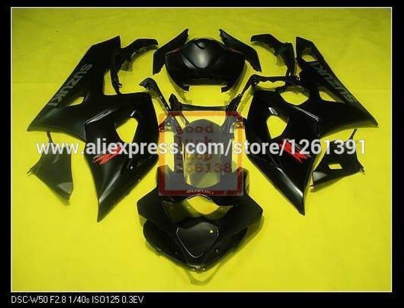 Пресс-форма для черный полный комплект обтекателя Для SUZUKI GSX-R1000 K5 05-06 GSXR1000 GSX R1000 GSXR 1000 K5 05 06 2005 2006 обтекатели