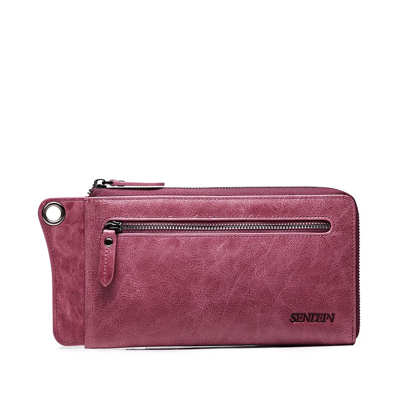 Wallet Women New Fashion Clutch Women Genuine Leather Wallet Brand Women Purse Long Purse Coin Purse Phone Pocket For iPhone 7S jamarna genuine leather wallet for wallet long clutch zipper packet coin purse card holder phone wallet brand free shipping new