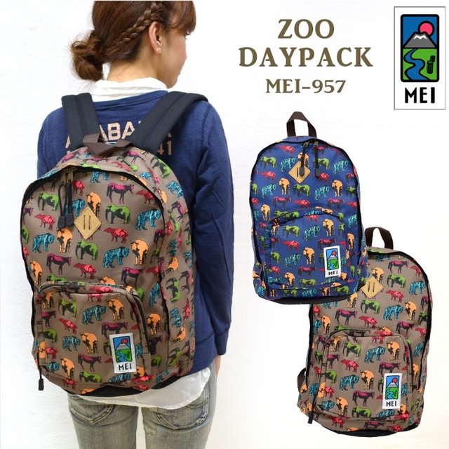 Mei Backpack Animal Graphic Patterns Terylene Bag Casual Student School Travel