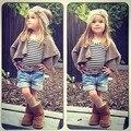 2016 летние дети девушки осень установить новый дизайн Футболки Шорты 3 шт. девочка комплектов одежды детская одежда Установить 41