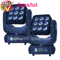 2pcs Lot Led Moving Beam Head Light Led 9x 12w Cree Rgbw 4in1 With Dmx 512