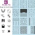 KADS 12 sheet/1SET.CZ23-34 Water decal Nail Sticker Flowers&letters&cute face black design sticker For water transfer sticker