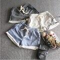 2016 Mulheres Verão Shorts de Algodão Elástico Na Cintura Bolso Casuais Plus Size Shorts Mini Shorts Com Cintura Ajustável