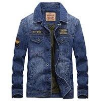 2017 Europenan Style Brand Clothing Men Denim Jacket M 3XL Overcoat Slim Fit Casual Jacket Coats