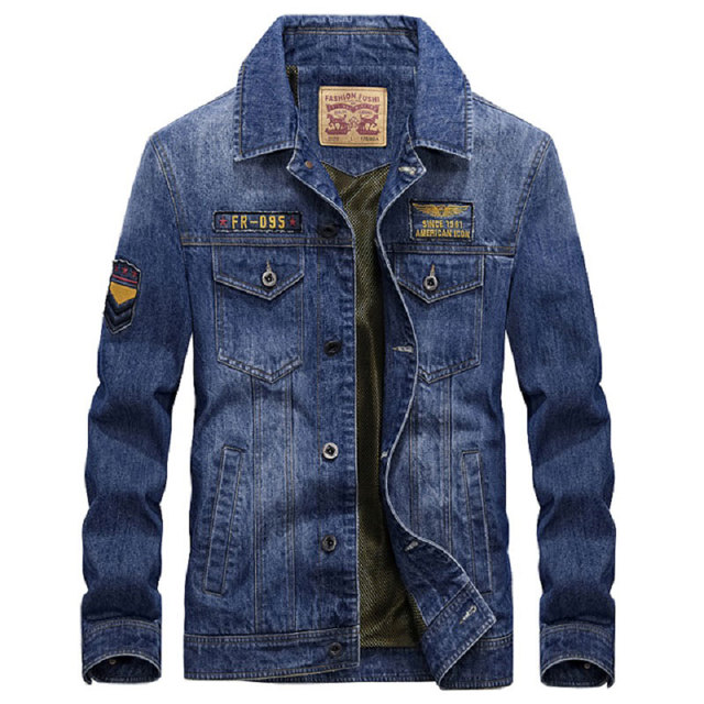 cb1c448a23 2017 estilo europeo marca ropa hombres Denim chaqueta M ~ 3XL abrigo Slim  Fit abrigos chaqueta