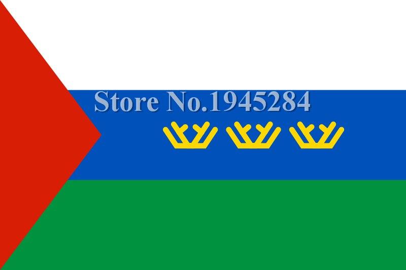 Flag of Tyumen Oblast Russisk stats flag Ny 3x5ft 90x150 cm polyester banner, flag, gratis forsendelse