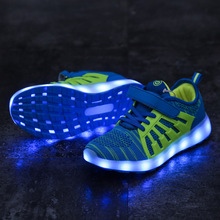 MIQI&LADING Autumn New USB Charging Children Luminous Sneakers High Quality Boys Girls Flash Led Light Shoes Kids Glowing Shoes kids shoes led glowing sneakers children 7 colors light up luminous sole girls boys casual shoes kids usb charging sneakers