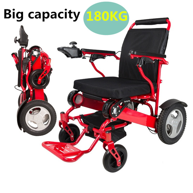 Directly Sell Lightweight Airplane Electric Wheel Chair Folding Power  Wheelchair With Best Sale After Service