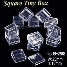 25x18mm Tiny Platz Box Durchsichtigen Kunststoff-aufbewahrungsbox für DIY Werkzeug Nail art Schmuck Zubehör perlen steine Handwerk fall behälter