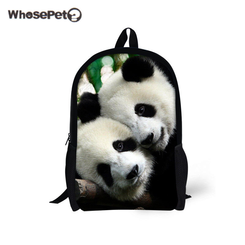 WHOSEPET Panda Shoulder Bags Cute School Book Bags for Girls Boys Animals  Printing Travel Backpacks Kawaii Satchel Schoolbags-in School Bags from  Luggage ... f6c761eb50ed6
