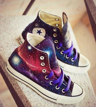 New Galaxy Converse All Star Hand Painted Shoes Nebula Universe High Top Canvas Sneakers Women Men Unique Christmas Gifts