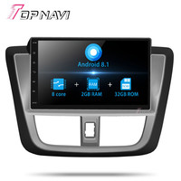 Autoradio Car Auto Multimedia For Toyota VIOS 2017 10.1Inch Android 8.1 2 Din Car GPS Navigation Players Stereo With WIFI NO DVD