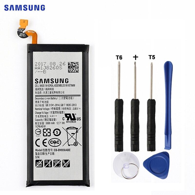 SAMSUNG Batterie De Rechange D'origine EB-BN950ABE Pour Samsung GALAXY Note 8 Note8 N9500 N9508 SM-N950F Projet Baïkal 3300 mah