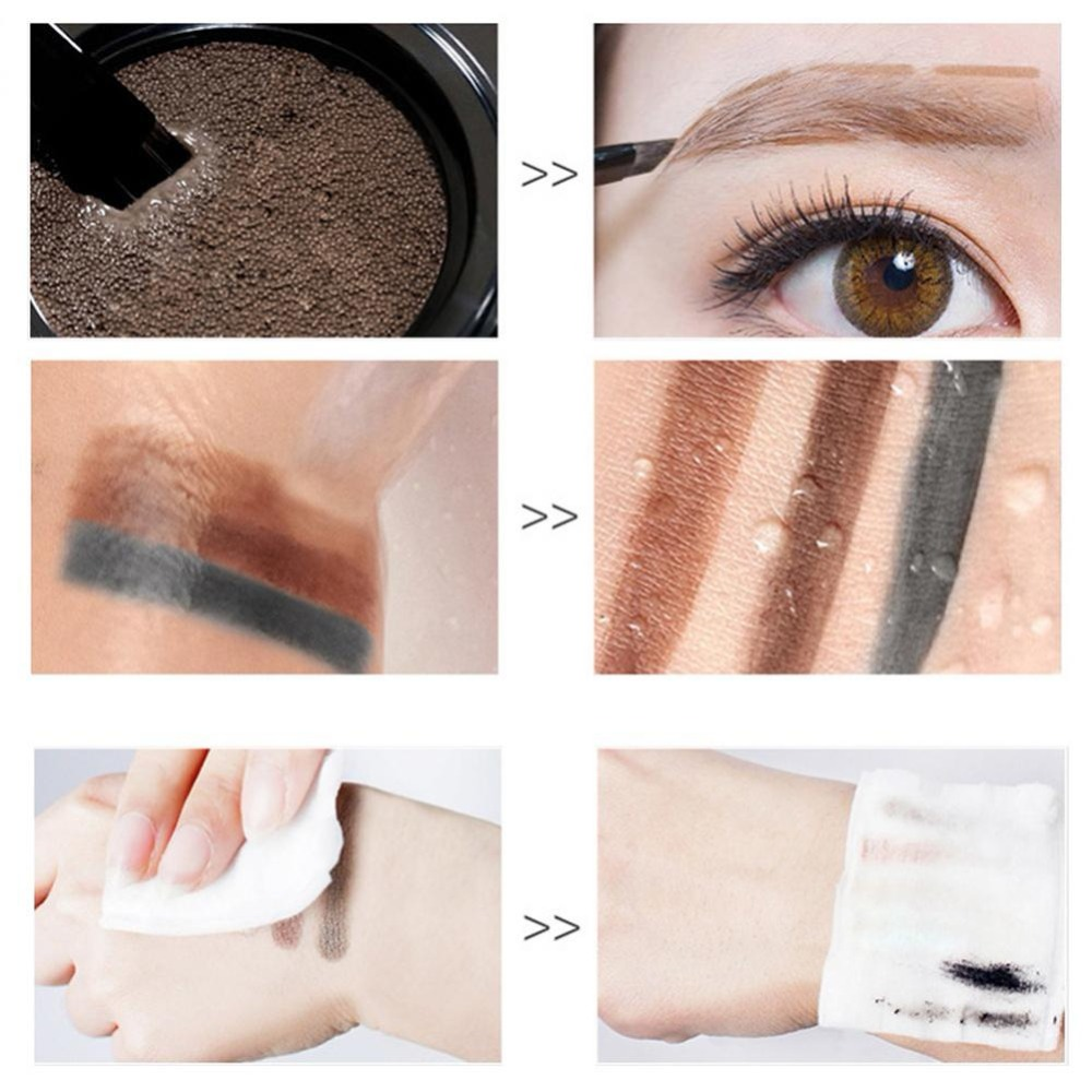 Professional 3 Colors Eyebrow Enhancer Air Cushion Henna Eyebrow Cream Tint Makeup Natural Waterproof Eye Brow Gel With Brush in Eyebrow Enhancers from Beauty Health