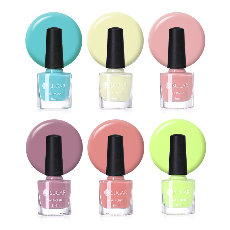 UR SUGAR 6ml Candy Color Series Nail Polish Pink Yellow