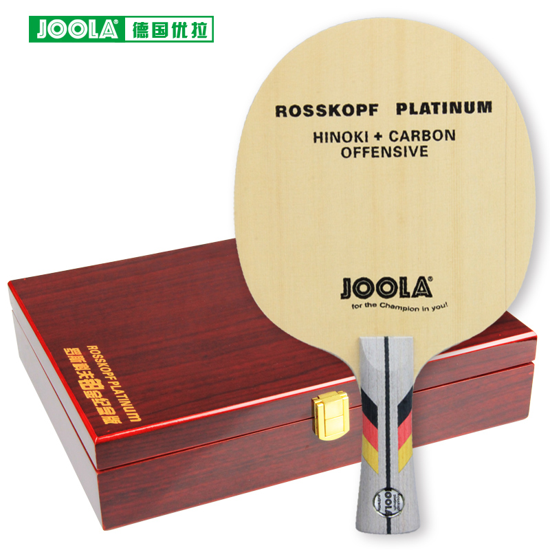 Joola ROSSKOPF Platinum (5 Ply, HINOKI + Premium Carbon, Offensive) Table Tennis Blade With Gift Box Racket Ping Pong Bat Paddle joola rossi viva rosskopf 7 ply top offensive blade table tennis blade racket ping pong bat
