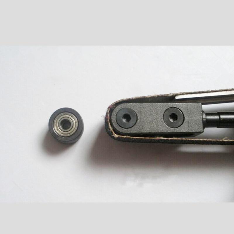 Priekinis plieninis guolio ritininis aksesuaras 10 mm 20 mm, skirtas pneumatinėms juostinėms šlifuoklio valcavimo dalims