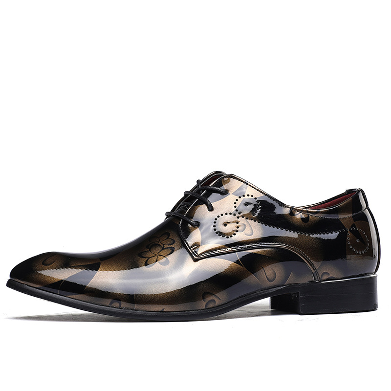 Oxford-Shoes Business Patent Men Pointed-Toe Wedding Plus-Size 49-50/rme-308