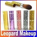 Profissão Leopard escovas Cosmetic suave Cheek Face Powder Foundation Blush Dropshipping