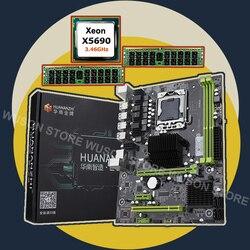 Zupełnie nowa płyta główna X58 HUANANZHI zniżka X58 Pro LGA1366 płyta główna z procesorem intel xeon X5690 RAM (2*16G) 32G DDR3 REG ECC