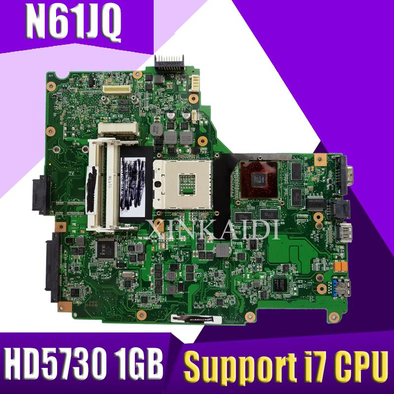 XinKaidi N61JQ Laptop Motherboard For ASUS N61J N61JA N61JQ Mainboard REV2.1 60-NY9MB1200-C03 Tested Support I7 CPU HD5730 1GB