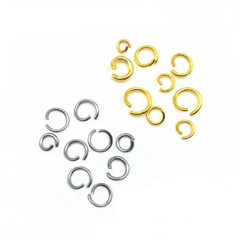 100pcs 3mm 4mm 5 6mm Stainless Steel Jump Rings Single Loops Open Split Rings Connector