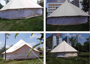 High Quality 4-6 Meter Outdoor Luxury Cotton Canvas Outdoor C&ing Cotton Bell Tent Hotel & High Quality 4 6 Meter Outdoor Luxury Cotton Canvas Outdoor ...