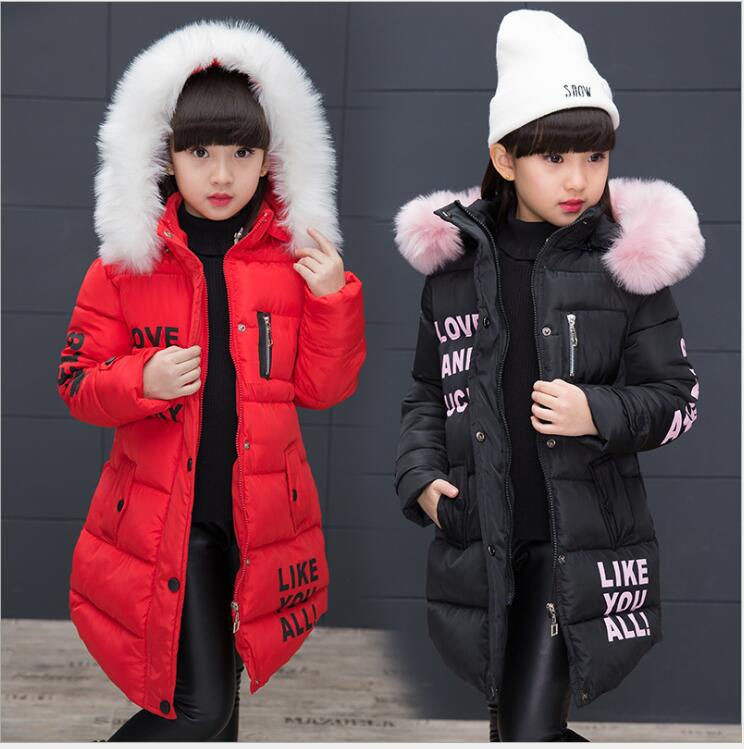 2018 New Fashion Children Jackets Warm Thick Clothing Parka Girl Winter Kids Jackets for Girls Teenage Clothes Long Hooded Coat children winter jackets for boys clothes 2018 fashion hooded thick warm long down coat teenage parka kids outerwear overcoats