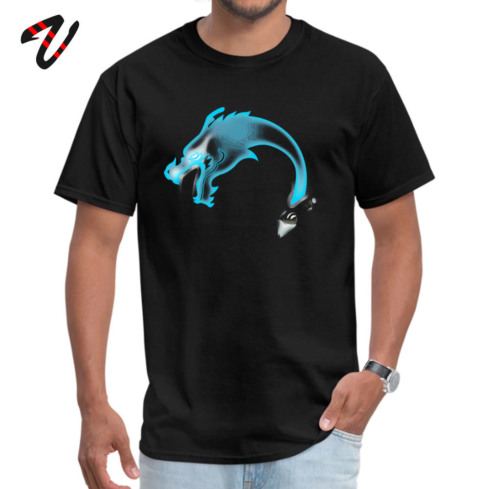 Summer Two Dragons two Brothers Men T Shirt Wholesale Summer/Fall Short Sleeve Crew Neck 100% Cotton Fabric T Shirt Sweatshirts Two Dragons two Brothers -13805 black