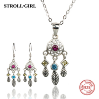 New 100 Authentic 925 Sterling Silver Dreamcatcher Set Charms Beads Fit Pandora Bracelet Diy Jewelry Making