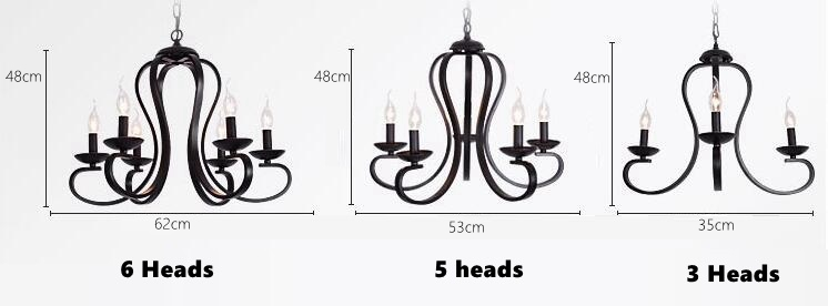 LuKLoy American Country Vintage Chandelier Loft Pendant Lighting Hanging Kitchen Light Fixture Living Room Bedroom Hanging lamps (1)