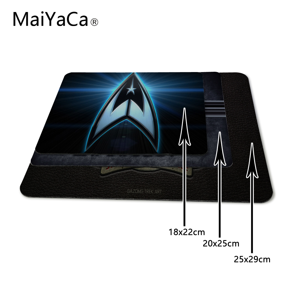 MaiYaCa Top Selling Luxury Print Hot Starfleet Star Trek Game Gaming Durable PC Anti-slip Mouse Mat for Optical/Trackball Mouse