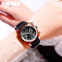 SKMEI Fashion Women Watches Top Brand Luxury Quartz Women's Watches Ladies Waterproof Sport Watch Clock relogio feminino 9186 luxury brand kimio fashion ladies genuine leather women watches relogio feminino women s watches waterproof quartz watch clock