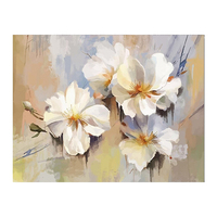 100% Hand Painted Abstract White Flower Art Painting On Canvas Wall Art Wall Adornment Picture Painting For Live Room Home Decor