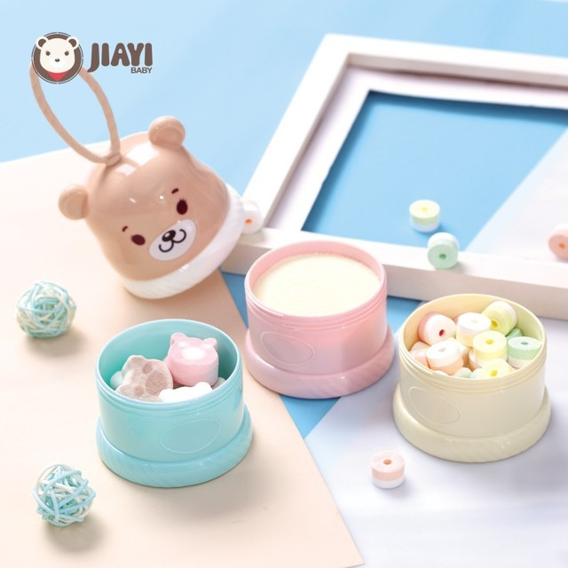 3 Layers Portable Baby Formula Dispenser Milk Powder Storage Boxes Children Food Storage Container 3 Grid Snacks Candy Boxes