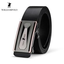 Williampolo 2019 100% Leather Men Belt Automatic Buckle Luxury Design Alloy Business Man PL17116P