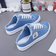 Shoes Woman 2019 Spring Summer New Arrival Ladies Casual Sneakers Slingback Deni