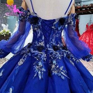 Image 3 - AIJINGYU robes de mariée abordables magasins robe gothique Satin robes gothiques modestes pour la mariée robe de mariée islamique