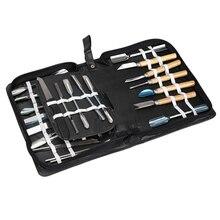 46 teile/satz Tragbare Kulinarische Carving Werkzeug Edelstahl Set Gemüse Obst Ätherisches Carving Garnierung Schneiden Küche Sets