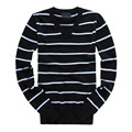 Pull Homme Sweater Autumn Winter Men V-Neck Striped 100% Cotton Pullover Knitted Full Sleeve Fashion Male Sweaters Sueter Hombre
